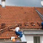 Casas con techos de tejas