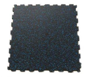 Pis per a gimnàs interconnectable negre amb espurnes blaves mesura 60x60 cm 6 mm